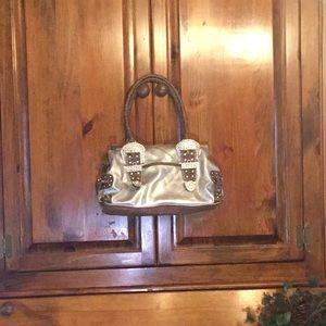 Kathy Van Zeeland jeweled silver satchel LOVELY🌲